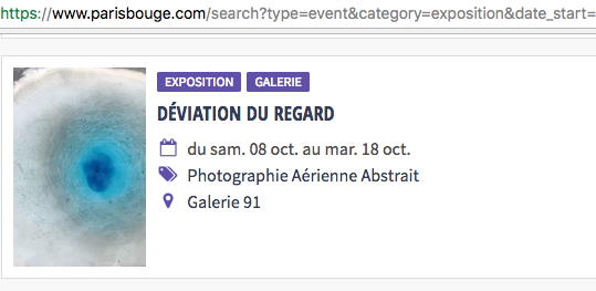 Exposition «Déviation du Regard» parisbouge.com – Octobre 2016