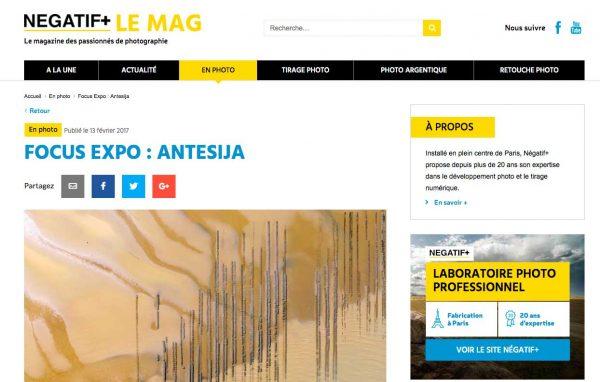 Interview Antesija – Négatif+ LE MAG – Février 2017