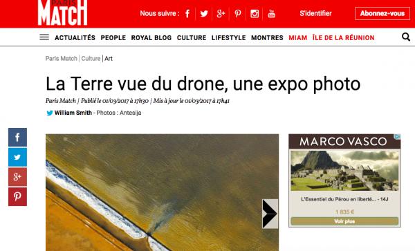 Article dans ParisMatch.com – mars 2017